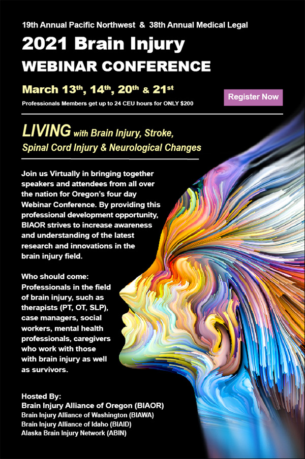 2021 Brain Injury Webinar Conference - March